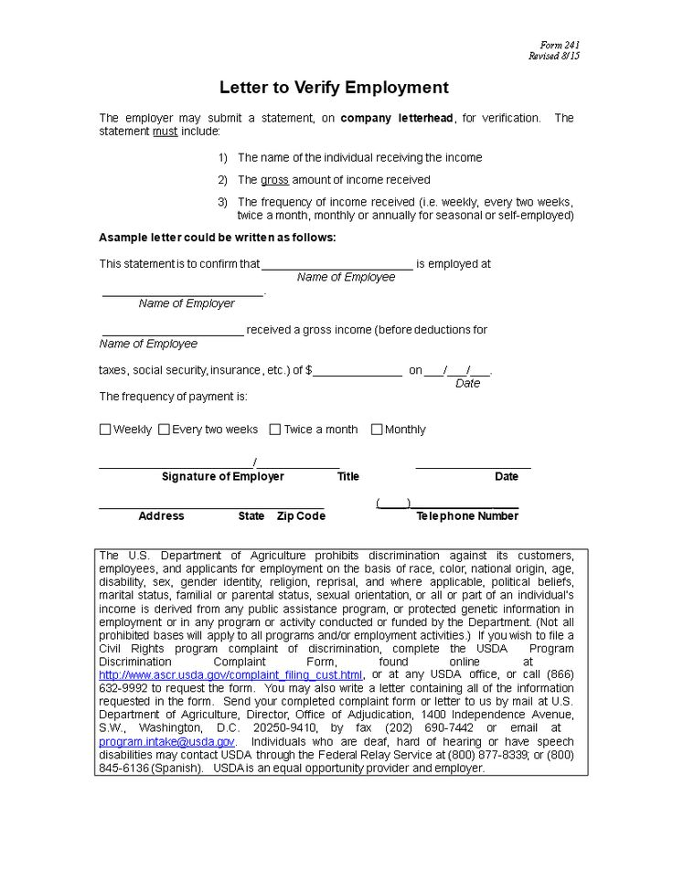 Professional Letter of Employment Verification How to
