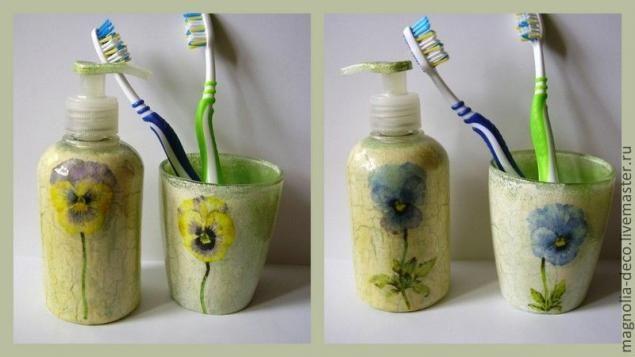 """Комплект для ванной комнаты """"Винтаж и современность"""" - Ярмарка Мастеров - ручная работа, handmade"""