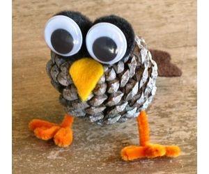 Make a Pine Cone Owl