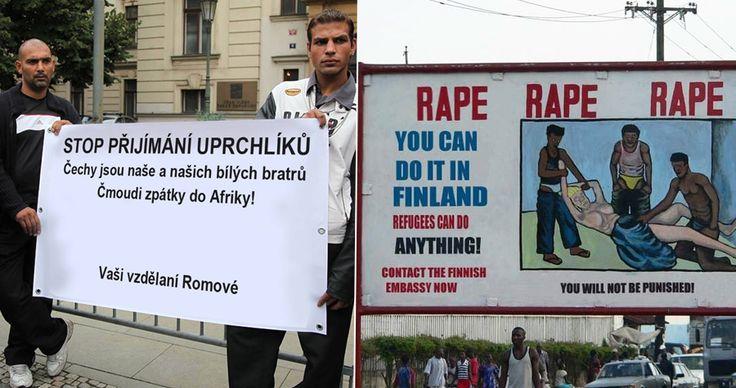 GALERIE: Reklama na znásilnění imigranty, protest Romů: Za falešné zprávy na Facebooku hrozí vězení! | FOTO 4 | Blesk.cz