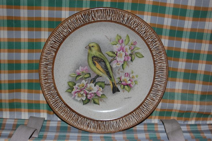 New in our shop! Vintage Purbeck Pottery Speckled Stoneware ' Finch' Bird decorative plate https://www.etsy.com/listing/504885228/vintage-purbeck-pottery-speckled?utm_campaign=crowdfire&utm_content=crowdfire&utm_medium=social&utm_source=pinterest