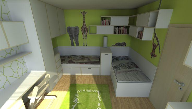 Dětský pokoj 2 Brno-Kohoutovice | Andrea Krejčířová - Interiérový design