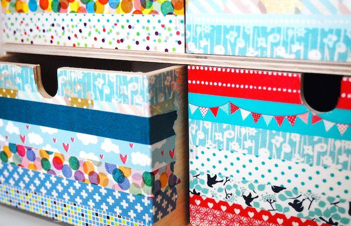 Washi tape drawers