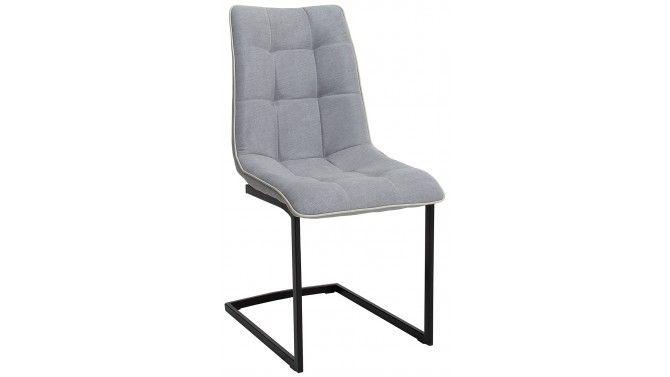 Chaise design matelassée en tissu microfibre gris Claus