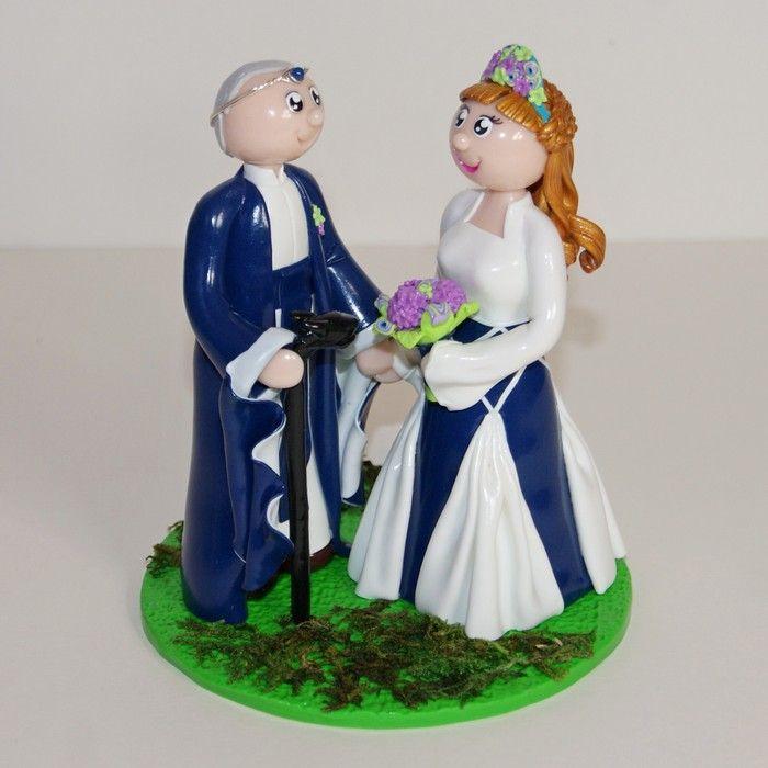 Wedding cake topper / figurines personnalisées / mariage / médiéval fantastique / seigneur des anneaux / flo et merveilles