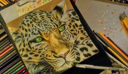 #искусство #карандаши #арт #животные #leopard #pencils #prismacolor #art #drawing #animals