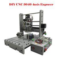Enrutador CNC de 4 Ejes fresadora CNC 300 W MACH3 3040 mini máquina de grabado(China (Mainland))