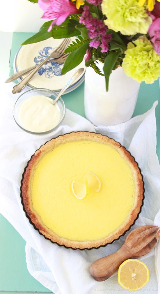 French Tarte Au Citron (Lemon Tart) on www.cookingwithru... is so impressive people will think it came from a bakery!