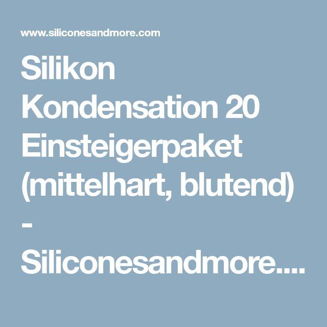 Silikon Kondensation 20 Einsteigerpaket (mittelhart, blutend) - Siliconesandmore.com/de
