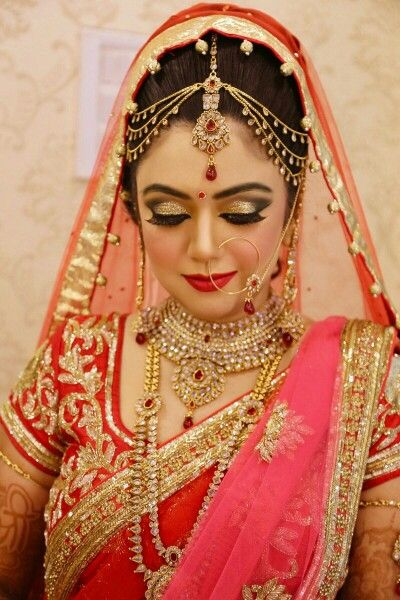 Bridal dress and makeup
