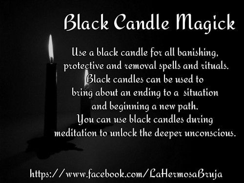 Black Candle Magick https://www.facebook.com/LaHermosaBruja