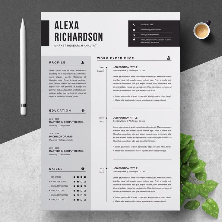 Two Pages Modern And Professional Cv Resume Template With Etsy Resume Design Creative Resume Design Template Cv Resume Template