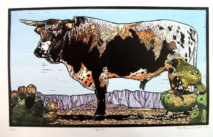 Nguni by Theo Paul Vorster http://printgallery.co.za/portfolio.php?users_id=753