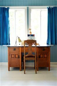 Arbetsrum med skrivbord i jugendstil