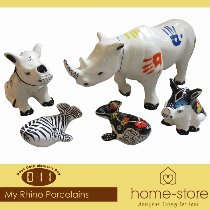 With only eleven days to go until Mother's Day, Home-Store presents My Rhino Porcelains and other ceramics as some of our selection of great gifts. #MothersDay #porcelain