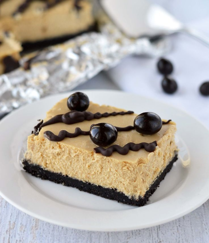Kahlua cheesecake bars