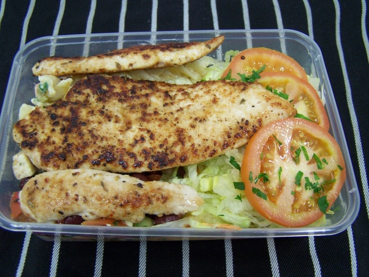 Healthy Take Away Choice - Mixed Salad with grilled Chicken Tenderloins