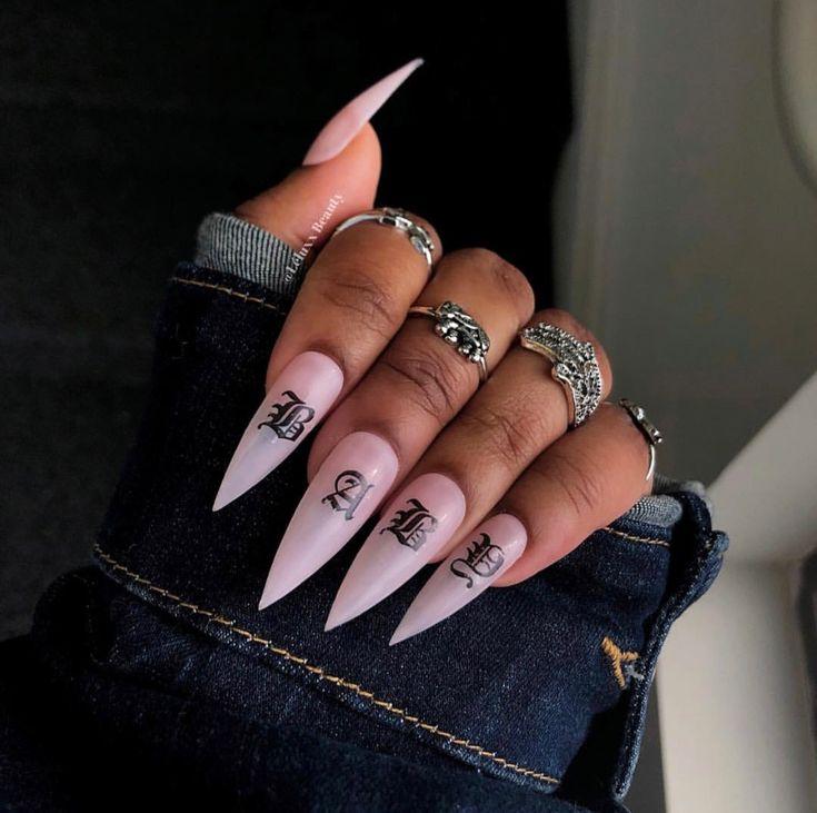 картинки острых ногтей с дизайном трешер может объяснить, что