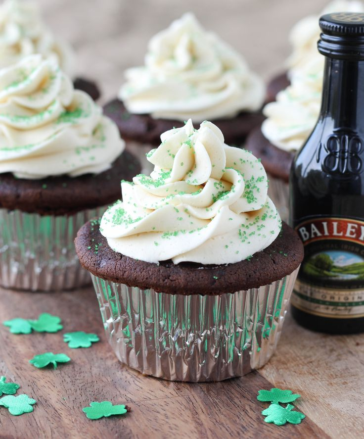 ... Chocolate Cupcakes with Bailey's Buttercream and Salted Caramel