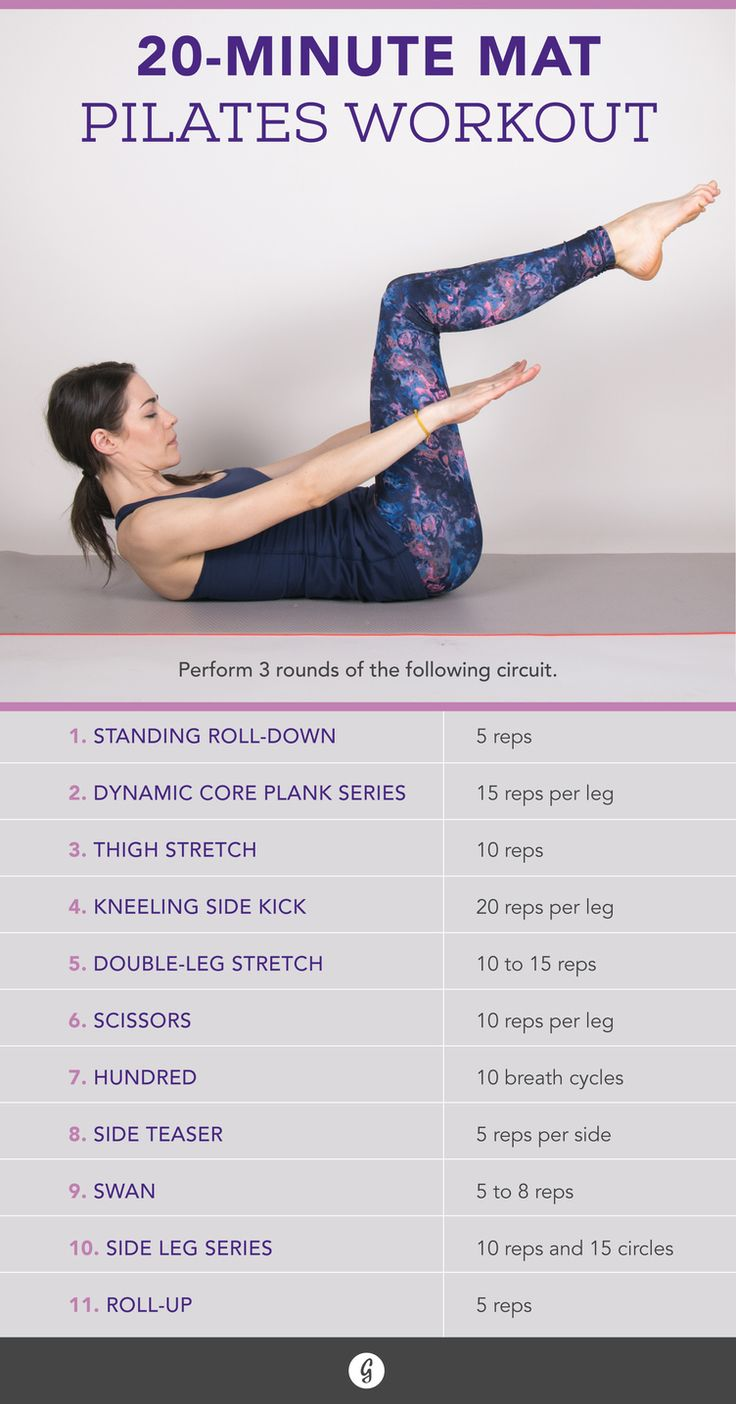 Get the benefit of a pilates workout without a gym membership, with this 20-minute workout from Greatist!