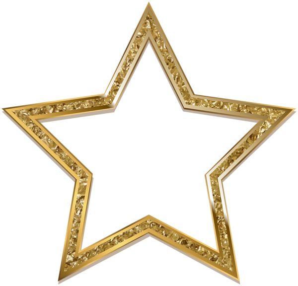 Transparent Star Decoration PNG Clip Art Image