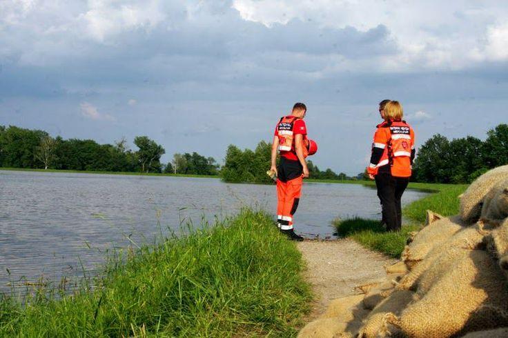 Medyczny Patrol na powodzi w Niemczech, w czerwcu 2013.