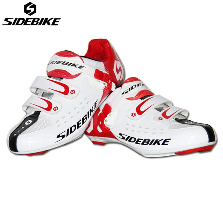 SIDEBIKE Ultralight Breathable Road Bicycle Shoes Self-Locking Racing Cycling Ciclismo Rubber Sole Cycling Road Bike Shoes