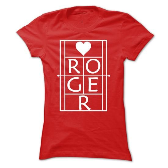 Roger Tennis White On Red T Shirts, Hoodies, Sweatshirts. CHECK PRICE ==► https://www.sunfrog.com/Sports/Roger-Tennis-White-On-Red.html?41382