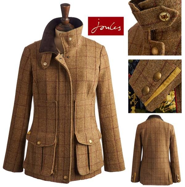 Joules tweed fieldcoat... Don't need this either but isn't it pretty