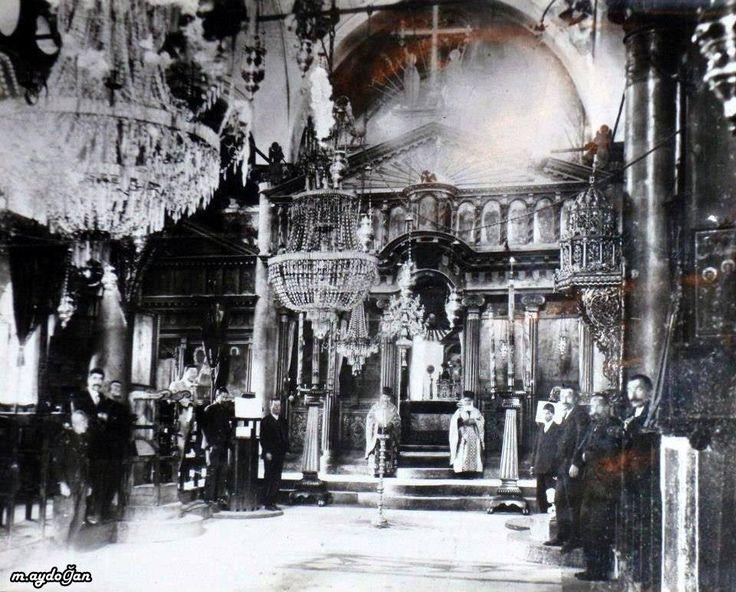 Kayseri Talas Endürlük 1924 mübadele öncesi Endürlük Rum Kilisesinin de ibadet yapılırken çekilen bir fotoğra