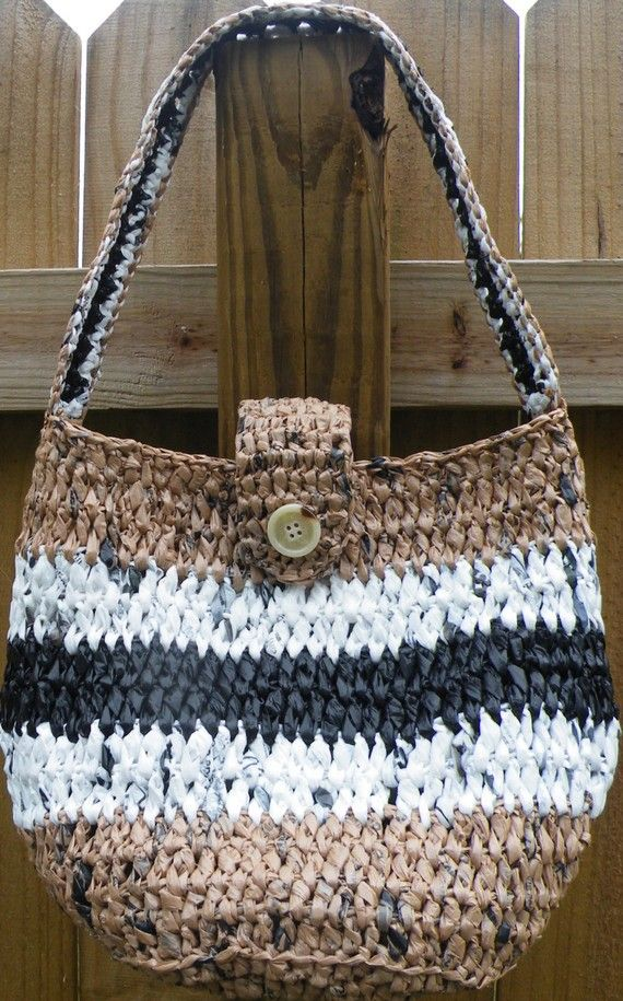 Pdf Crochet Pattern Round Reusable Carry All Tote Written For Plastic Yarn But Is Friendly Projects To Make Time Pinterest