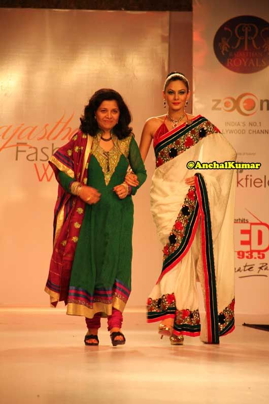 Designer Arpita with Model Anchal Kumar