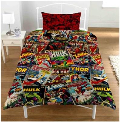 Marvel Comics Book Superhero Duvet Set Quilt Cover Bedding Kids ...