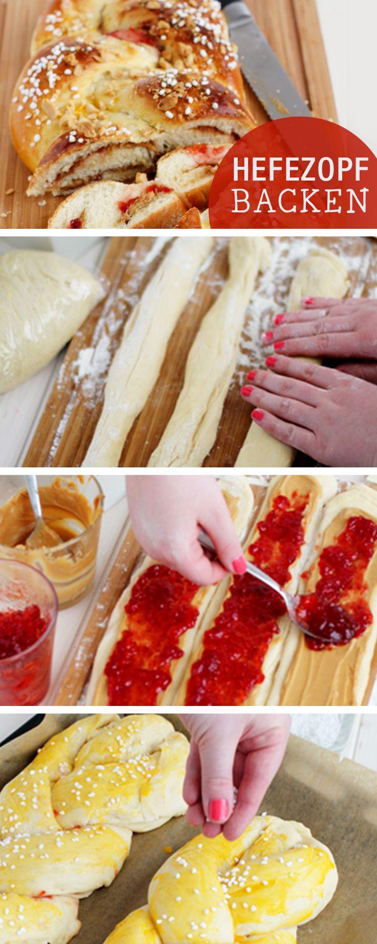 Rezept: Hefezopf für Ostern backen / recipe: bake a plaited yeast bun, easter…