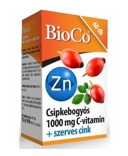 BioCo Csipkebogyós 1000mg C-vitamin+szerves cink tabl. 60 db - A termékben található C-vitamin hozzájárul az immunrendszer normál működéséhez, a fáradtság és kifáradás csökkentéséhez. A C-vitamin egészségre gyakorolt kedvező hatását szerves kötésű cink egészíti ki, mely hozzájárul az immunrendszer normál működéséhez, a haj-, bőr- és köröm normál állapotának fenntartásához, a normál szellemi működés, látás és csontozat fenntartásához.