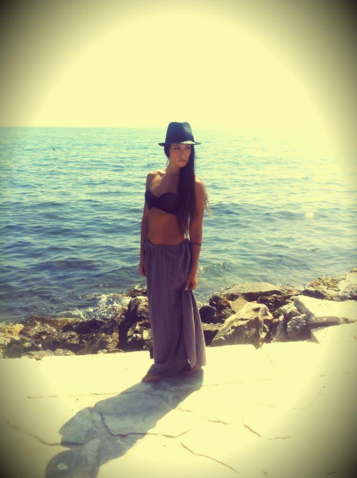 NEW FABRIC Humita skirt - Lolita black bikini