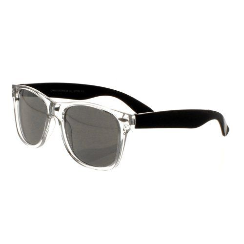 Transparent Faced Wayfarer Style Sunglasses with Coloured Arms