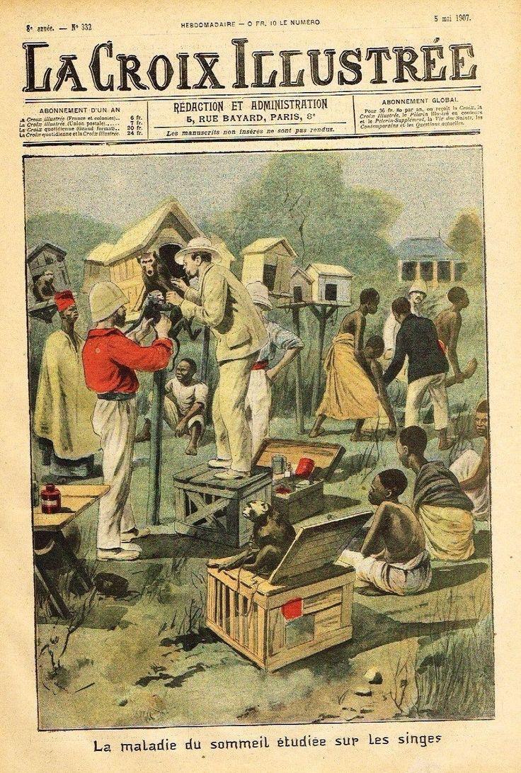 La Croix Illustree Front Page- LA MALADIE DU SOMMEIL ETUDIEE- Chromo 1907