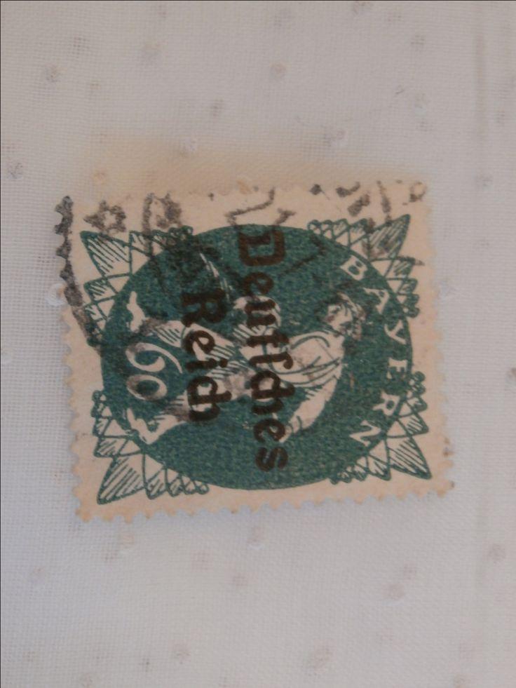 Bayern Bavaria German Stamp Deutsches Reich, 60 pf Green The Sower by MendozamVintage on Etsy