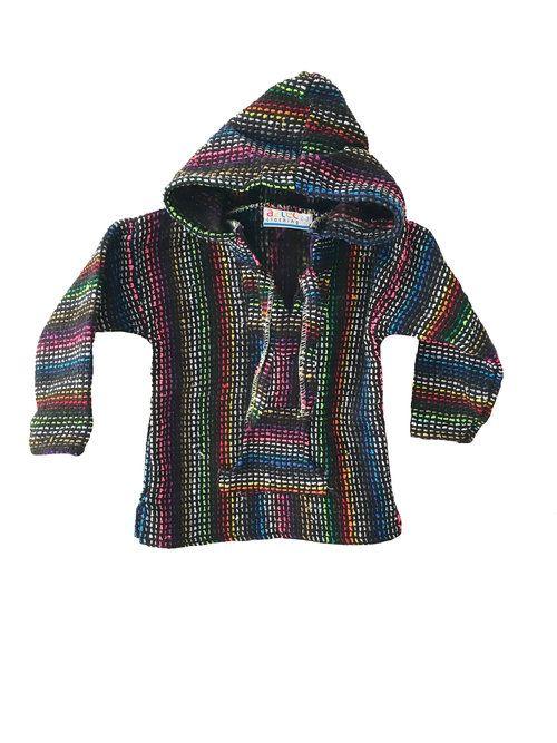 Kids Mexican Baja Jumper / Sweater - Rainbow Dots