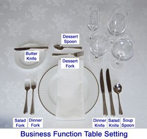 Four Course Meal table settings  sc 1 st  Pinterest : cutlery set up on table - pezcame.com