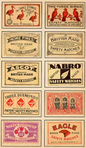 miniature printable matchbook labels