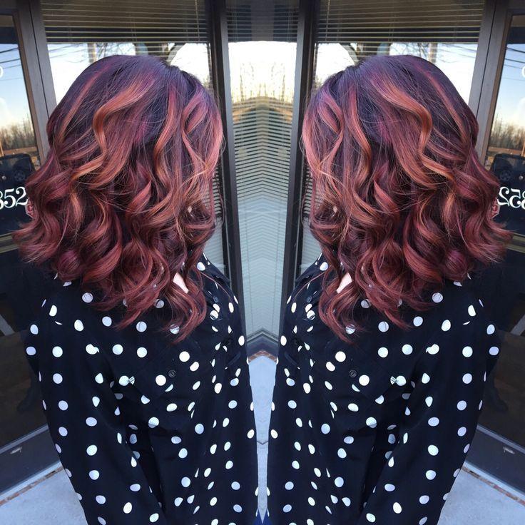 Short Red Natural Hair Brown Highligts
