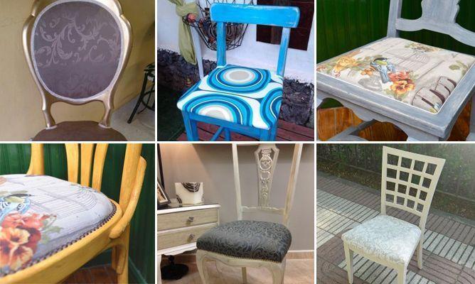 M s de 1000 ideas sobre sillas restauradas en pinterest - Telas para tapizar sillas comedor ...