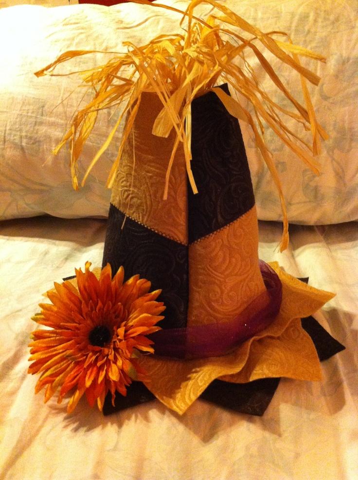 Scarecrow hat made from felt. | Scarecrow hat, Felt diy ...