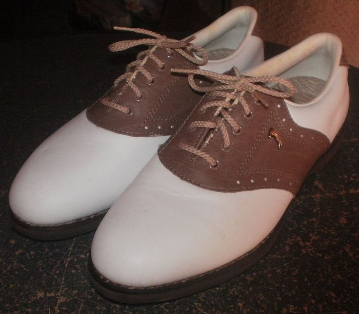 Lady Fairway Women's Golf Golfing Spike Shoes~Size 9M~Brown White~Saddle Colors | Sporting Goods, Golf, Golf Clothing, Shoes & Accs | eBay!