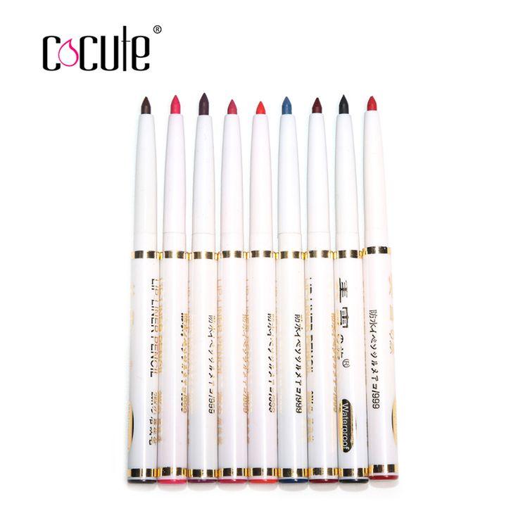 Новый 9psc/мода набор женские Профессиональные карандаш levre матовая губ леди водонепроницаемый красоты инструменты макияж для губ/карандаш для глаз купить на AliExpress