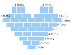 Resultado de imagem para fotos na parede em forma de coração como fazer