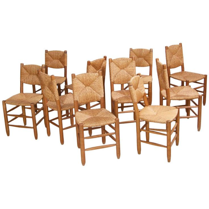 set of 10 bauche chairs by charlotte perriand for les arcs - Salle De Bain Charlotte Perriand