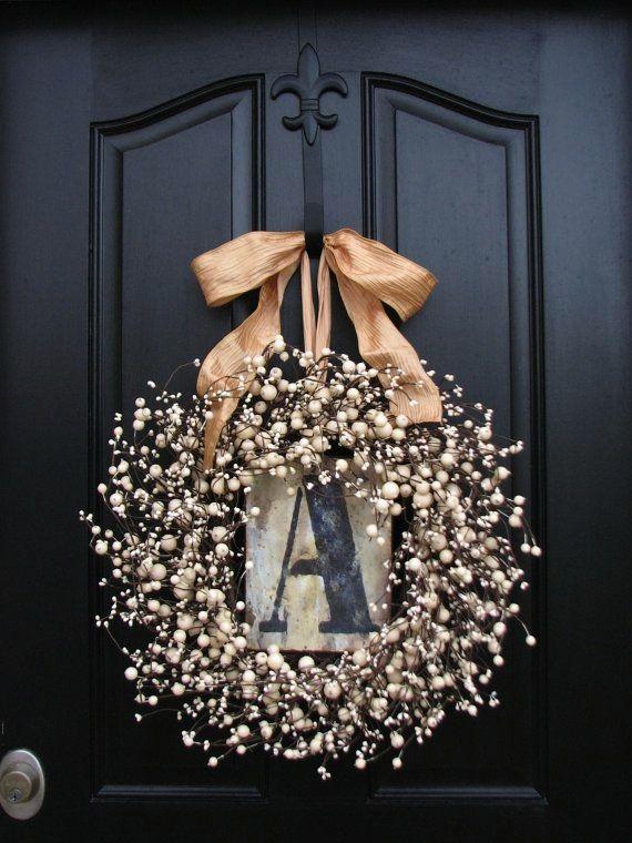 """decoração porta entrada letra """"A"""""""